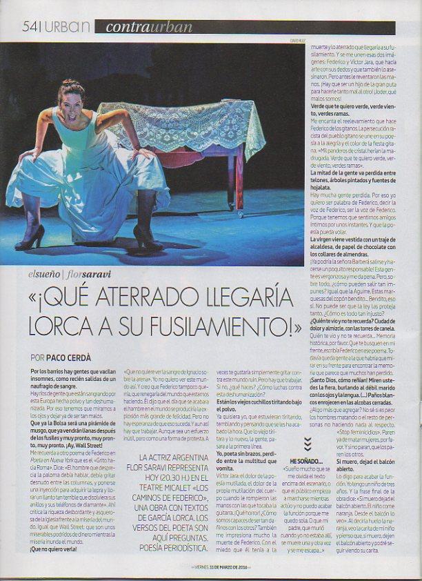 Los caminos de Federico Diario Levante de Valencia
